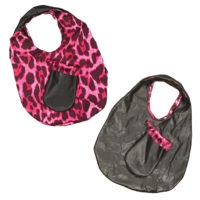 black and pink leopard tote