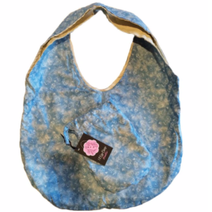 blue baby bag